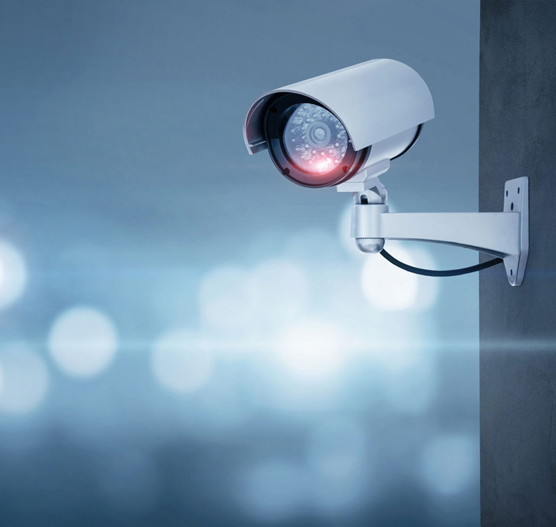 Security-Camera-attached-to-outside-wall