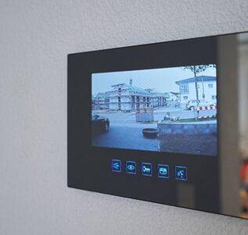 Video-Intercom-on-wall