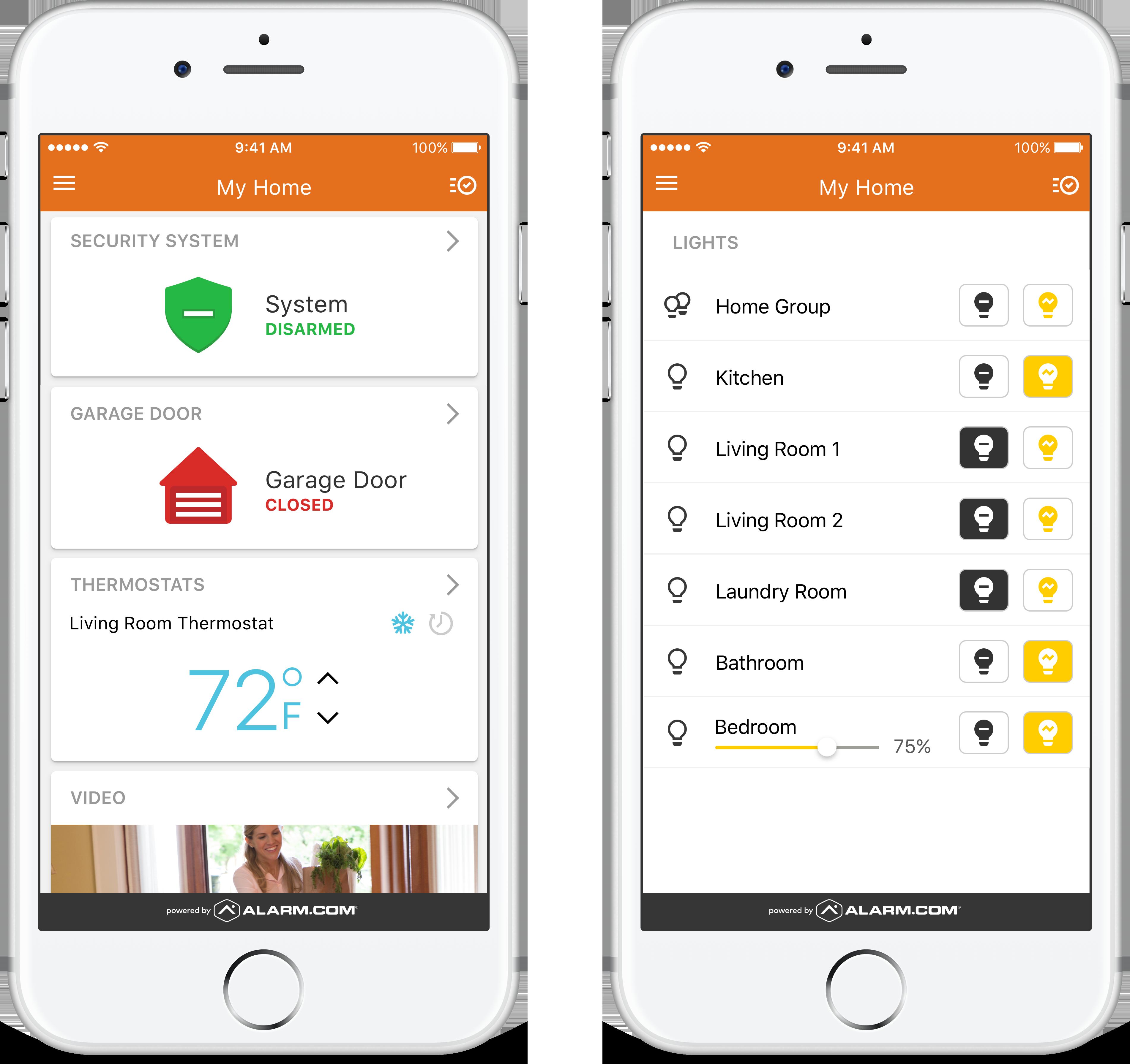 alarm.com-app-screenshots-on-iphone