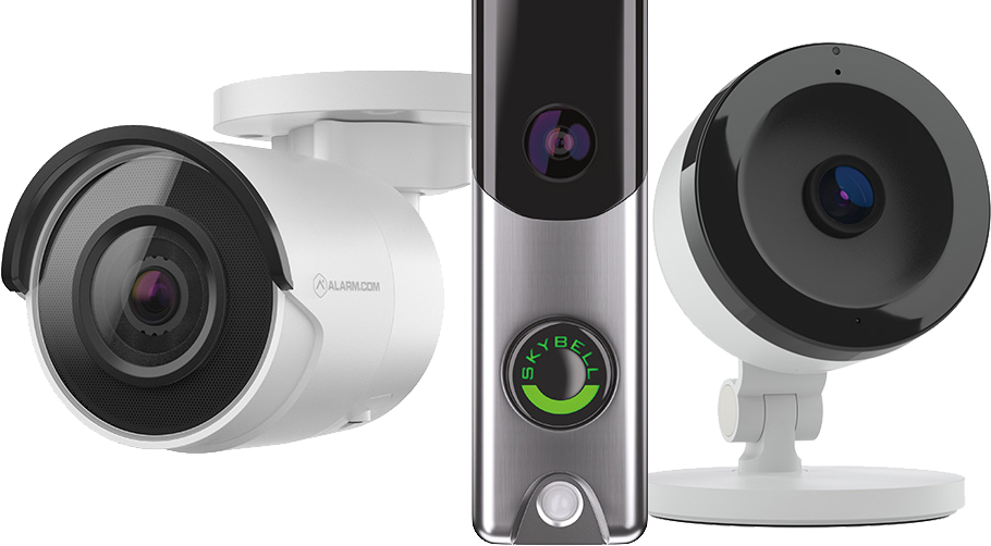 alarm.com doorbell and camera products
